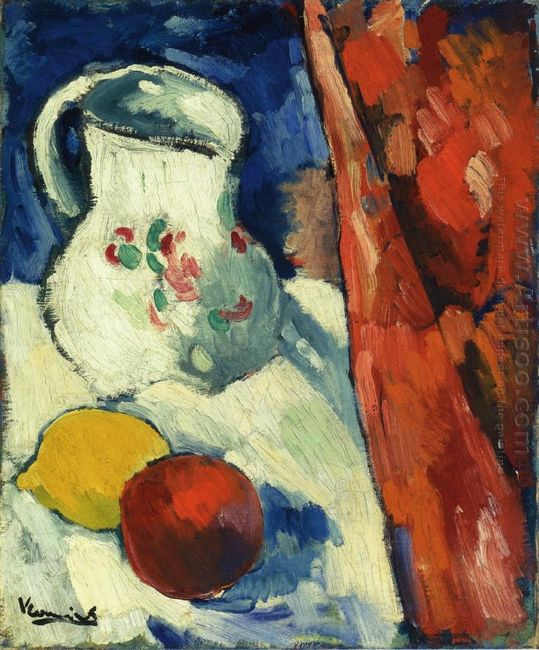 Still Life With Pitcher And Fruit 1906