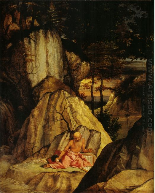 St Jerome Meditating In The Desert 1506