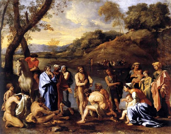 St John Baptising The People