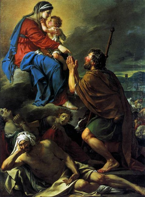 St Roch Praying To The Virgin For An End To The Plague 1780