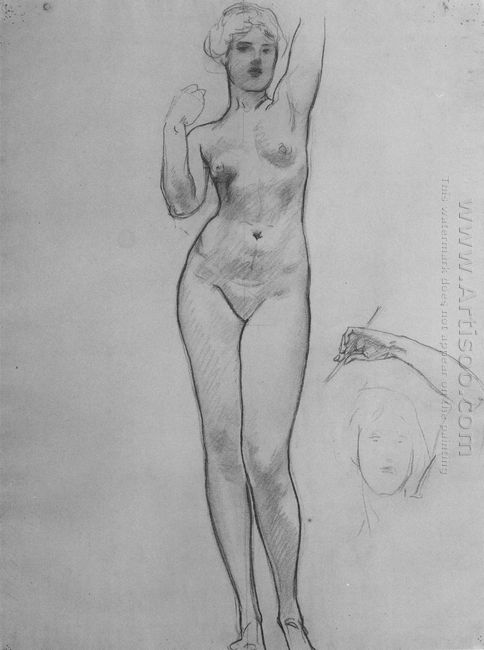 Studies Of Aphrodite For Aphrodite And Eros 1919