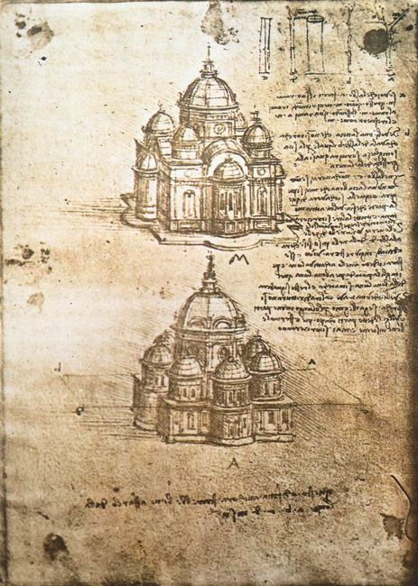Studies Of Central Plan Buildings 1480