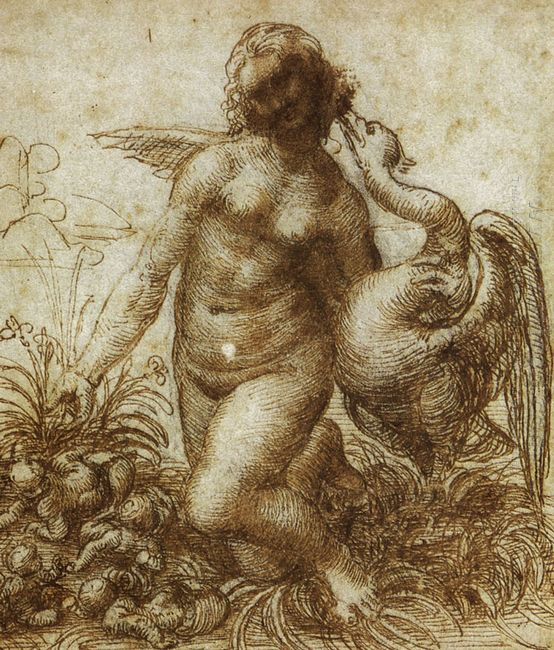 Study For The Kneeling Leda