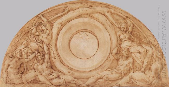 Study For The Lunette With Vertumnus And Pomona 1519