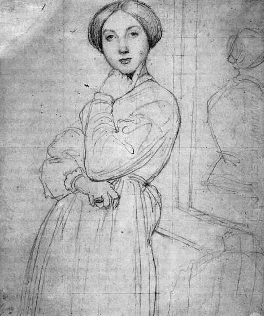 Study For Vicomtesse D Hausonville Born Louise Albertine De Brog