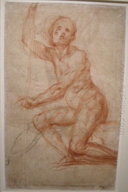 Study Of A Seated Man 1518