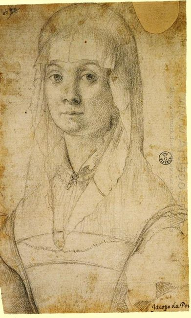 Study Of A Woman Possibly Maria Salviati