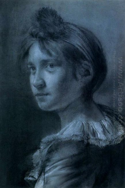 Study Of A Young Girl In A Turban And Frilled Collar