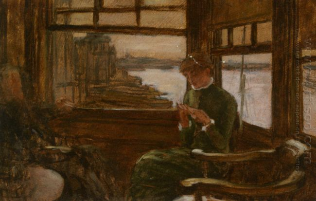 Study Of Cathlene Newton In A Thames Tavern