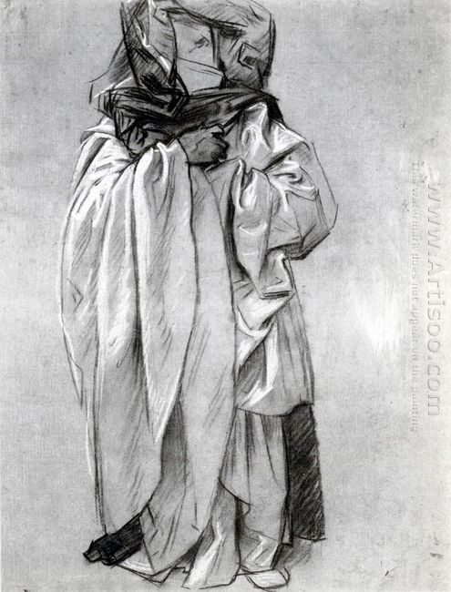 Study Of Ezekiel For Frieze Of The Prophets