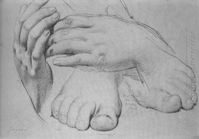 Study Of Hands And Feet For The Golden Age