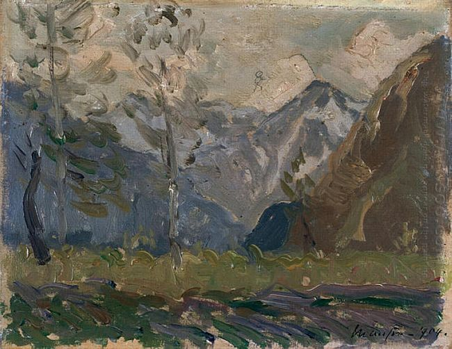 Study Of Mountains 1904