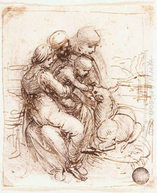Study Of St Anne Mary The Christ Child And The Young St John