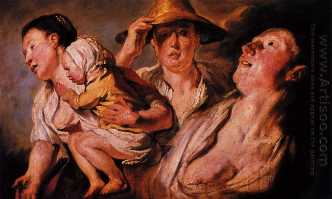 Study Of Three Women And Child 1623