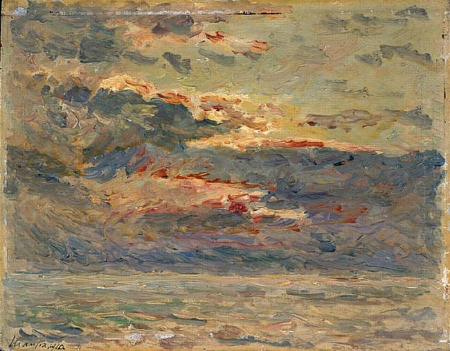 Sunset On The Sea 1910
