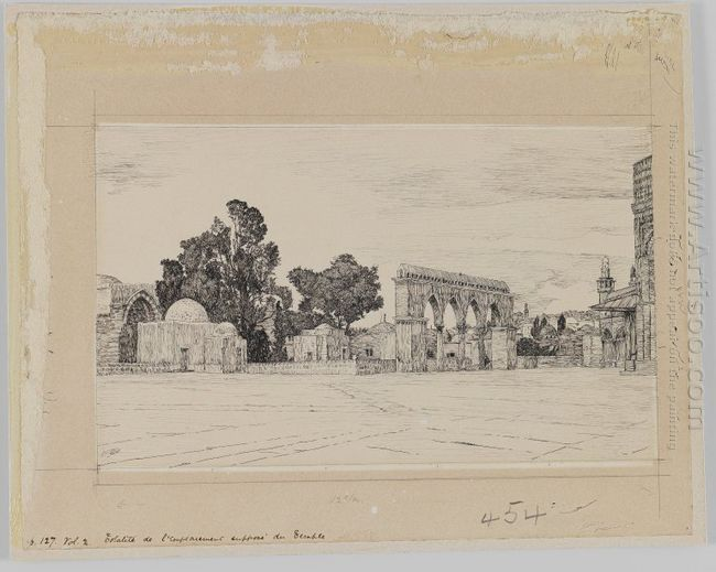 Supposed Site Of The Temple 1889