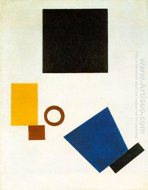 Suprematism Self Portrait In Two Dimensions 1915