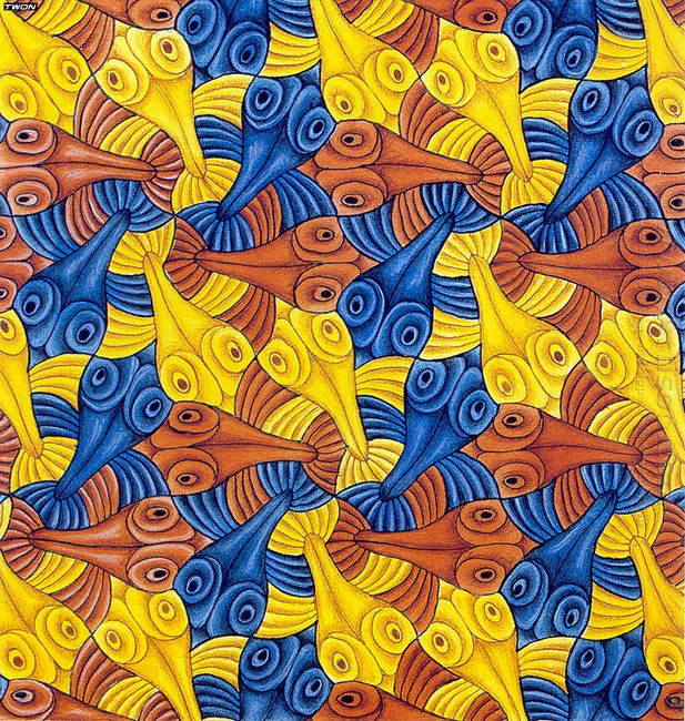 Symmetry Watercolor 55 Fish