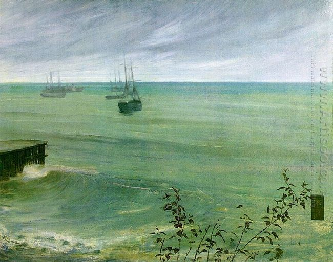 Symphony In Grey And Green The Ocean 1872