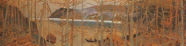 Taiga Near Baikal 1900