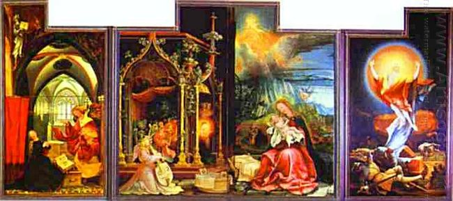 The Annunciation Virgin And Child With Angels The Resurrection S
