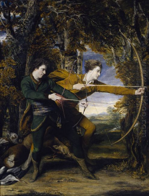 The Archers Double Portrait Of Colonel John Dyke Acland And Dudl