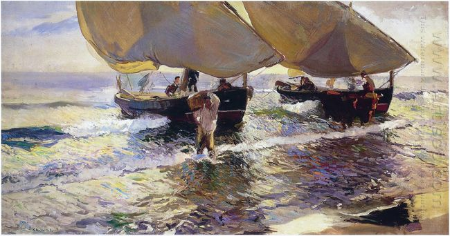 The Arrival Of The Boats 1907