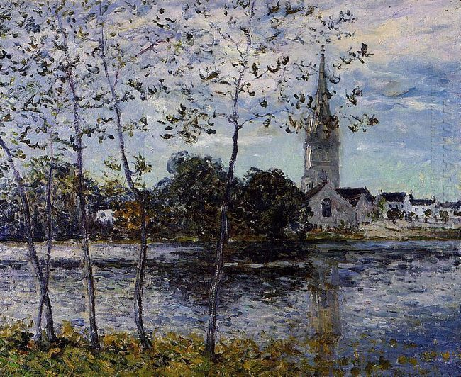 The Banks Of The Pond At Rosporden 1911