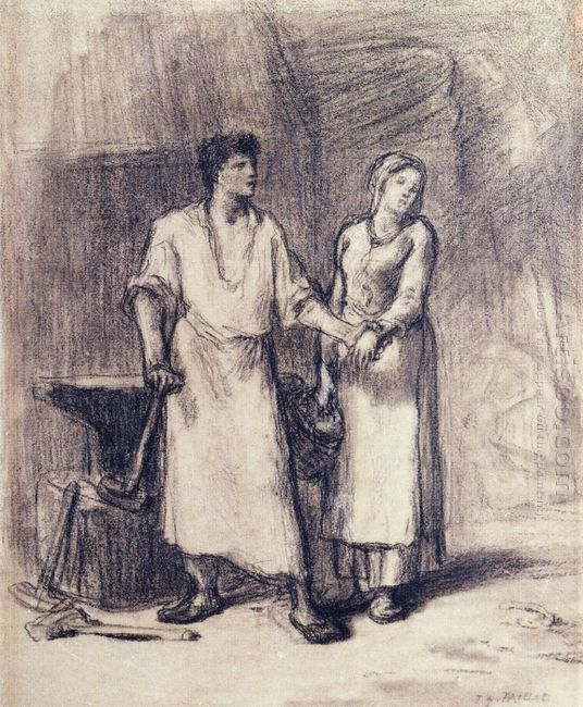 The Blacksmith And His Bride 1848