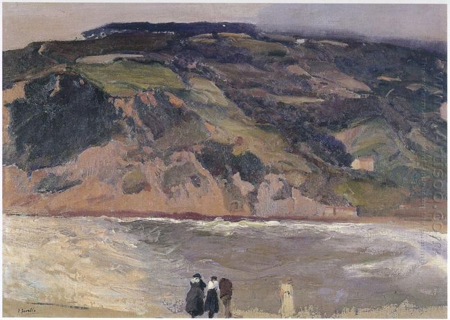 The Breakwater At San Sebastian 1917