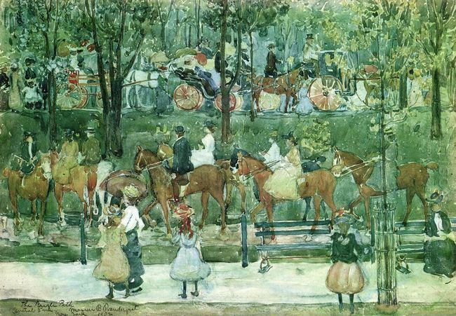 The Bridle Path Central Park 1902