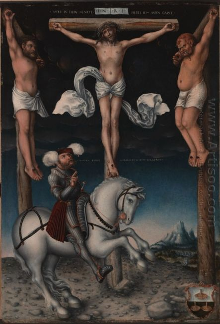 The Crucifixion With The Converted Centurion 1538 1