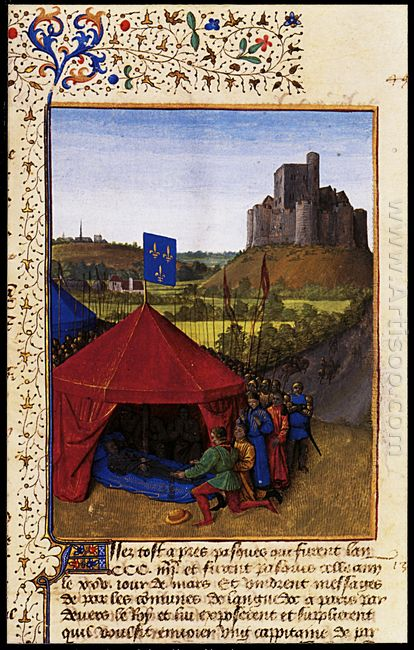 The Death Of Bertrand Du Geusclin C 1320 80 At Chateauneuf De Ra