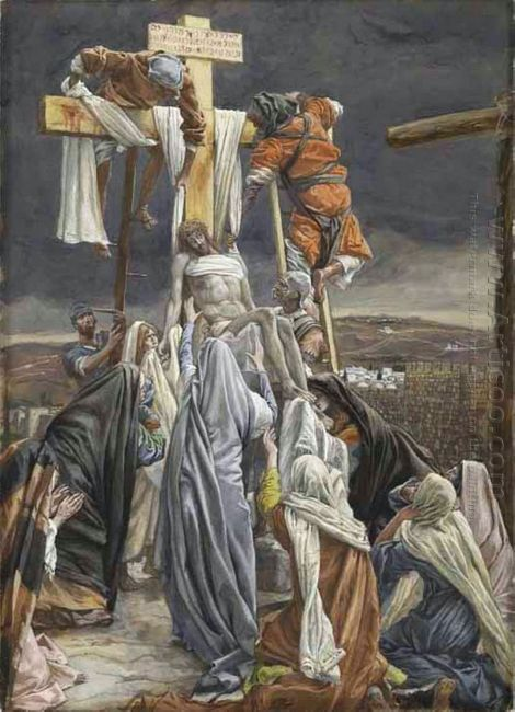 The Descent From The Cross Illustration For The Life Of Christ