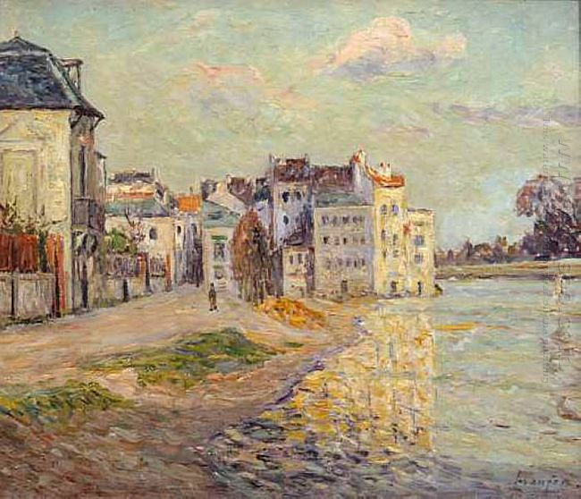 The Embankment Of Lagny Under Flood Water 1908