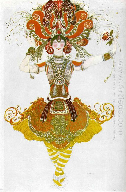 The Firebird Costume For Tamara Karsavina 1910