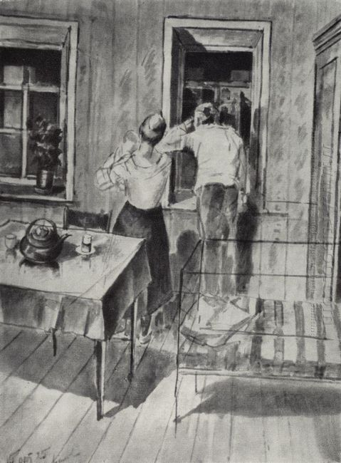 The First Sketch For The Painting In 1919 1925
