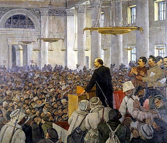 The First Speech Of Vladimir Lenin In The Smolny Late Version Of