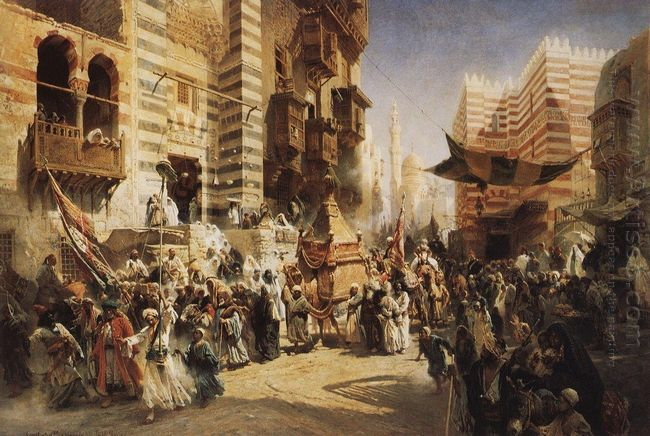 The Handing Over Of The Sacred Carpet In Cairo 1876