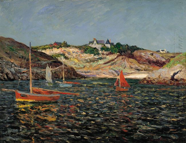 The Heart Of The Port Of Goulphar Belle Ile En Mer 1909