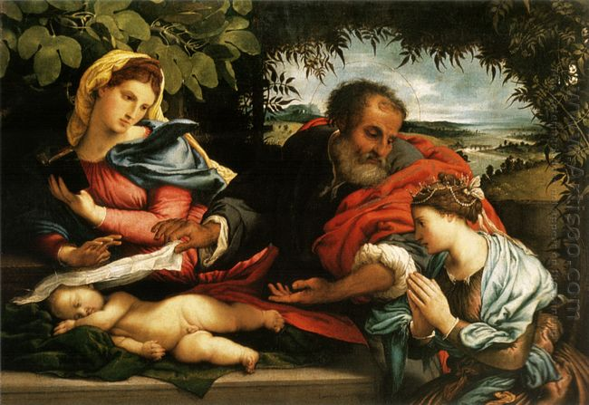 The Holy Family With St Catherine Of Alexandria 1533