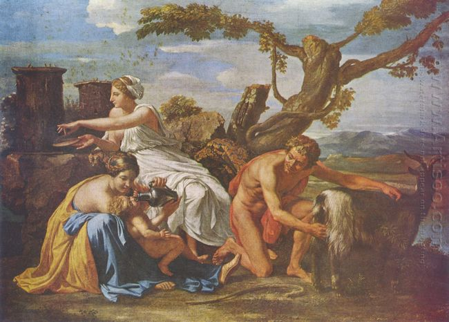 The Infant Jupiter Nurtured By The Goat Amalthea