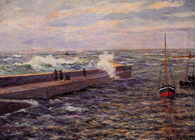 The Jetty At Pontivy 1909