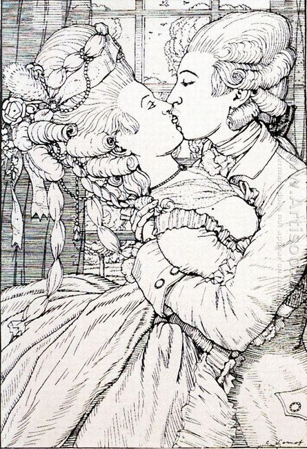 The Kiss Illustration To The Book Of The Marquise