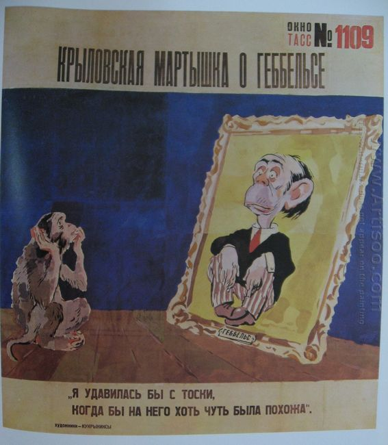 The Krylov S Marmoset About Goebbels The Tass Window 1109 1944