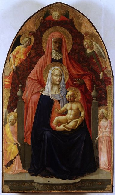 The Madonna And Child With St Anna