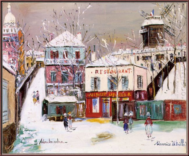 The Maquis Of Montmartre Under The Snow
