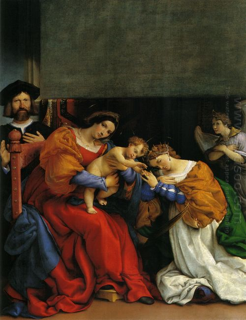 The Mystic Marriage Of St Catherine With The Patron Niccolo Bong