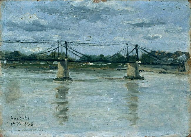 The Old Bridge In Ancenis 1884