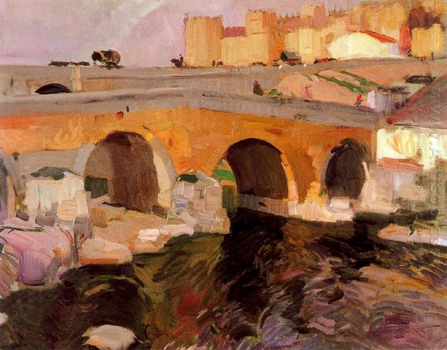 The Old Bridge Of Avila 1910